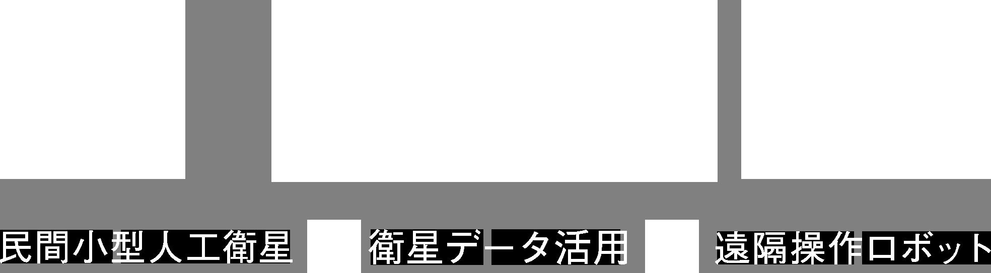 SORA ⺠間⼩型⼈⼯衛星 / 衛星データ活⽤ / 遠隔操作ロボット